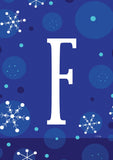 Winter Snowflakes Monogram F Image 1