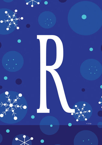 Winter Snowflakes Monogram R Image 1