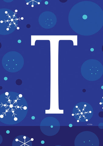 Winter Snowflakes Monogram T Image 1