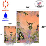 Anna's Hummingbirds and Butterflies Image 4