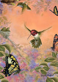 Anna's Hummingbirds and Butterflies Image 1
