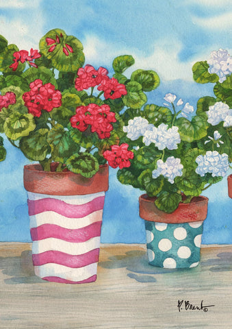 Patriotic Geraniums Image 1