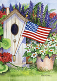 Flag Flying Bird House Image 1