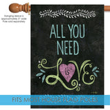 All You Need Is Love Chalkboard Image 3
