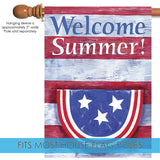 Bunting On Striped Welcome Summer Image 3