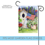 Flag Flying Bird House Image 2