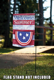 Bunting On Striped Welcome Summer Image 5