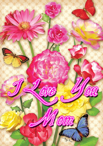 Floral I Love You Mom Image 1