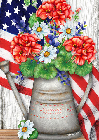 Patriotic Flower Bouquet Image 1