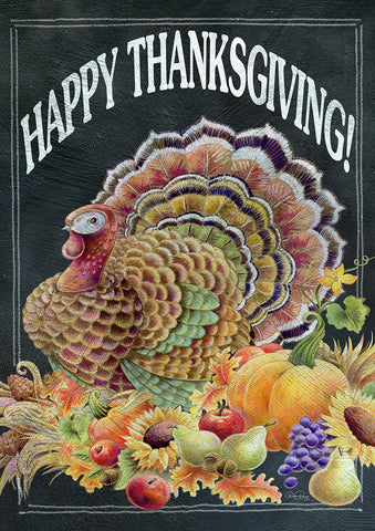 Happy Thanksgiving Chalkboard Image 1