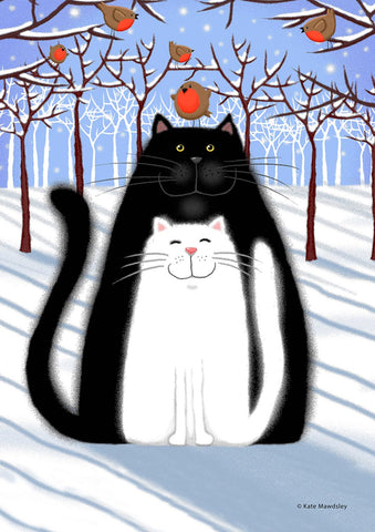 Snow Cats and Birds Image 1