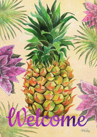 Welcome Floral Pineapple Image 1
