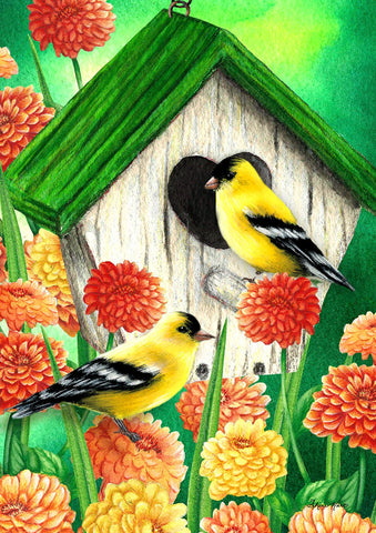 Goldfinch Birdhouse Image 1