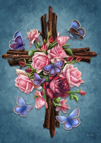 Roses and Cross Image 1