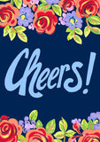 Blue Floral Cheers Image 1
