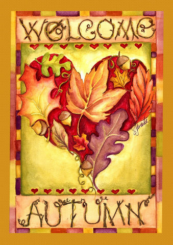 Autumn Welcome Heart Image 1