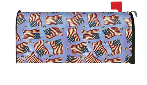 Waving Flags Mailbox Cover Image