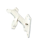 Two Position White Metal Pole Bracket Image