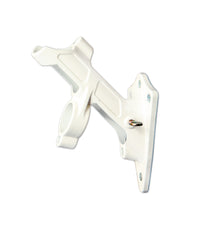 Two Position White Metal Pole Bracket
