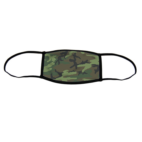 Camo Small Premium Triple Layer Cloth Face Mask with Ear Loop Adjusters