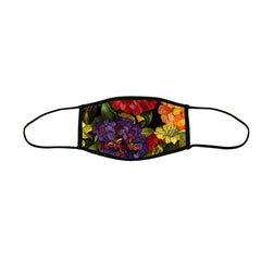 Zippy Zinnias Large Premium Triple Layer Cloth Face Mask with Ear Loop Adjusters