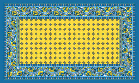 French Paisley - Yellow Door Mat Image