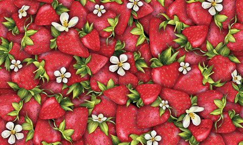 Strawberry Collage Door Mat Image