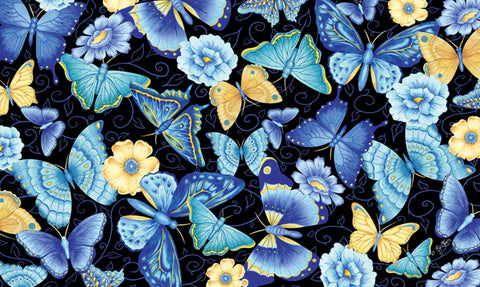 Blue Butterfly Door Mat Image