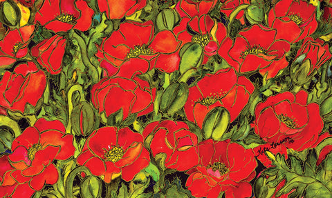 Red Poppies Door Mat Image
