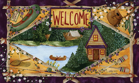 Lakeside Welcome Door Mat Image