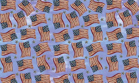 Waving Flags Door Mat Image