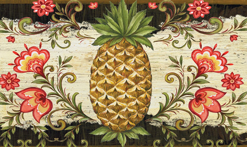Pineapple & Scrolls Door Mat Image