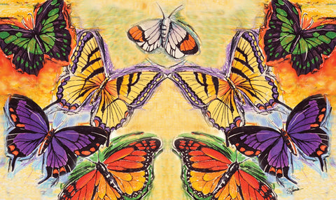 Flight Of The Butterflies Door Mat Image