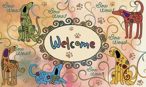 Bow Wow Welcome Door Mat Image
