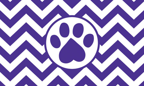 Chevron Paw Door Mat Image