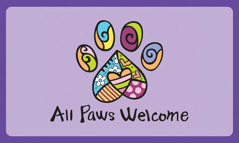 All Paws Welcome Door Mat Image