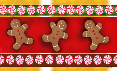 Gingerbread Men Door Mat Image