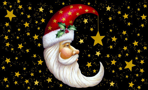 Santa Moon Door Mat Image