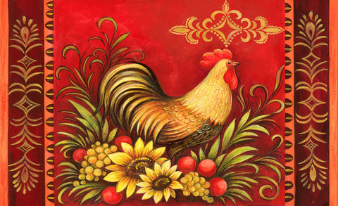 Fall Rooster Door Mat Image