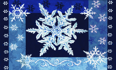Cool Snowflakes Door Mat Image