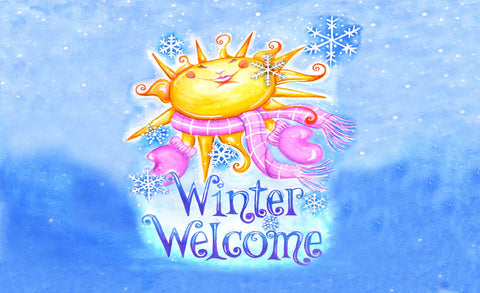 Winter Welcome Door Mat Image