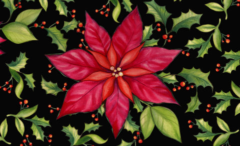 Poinsettia Door Mat Image