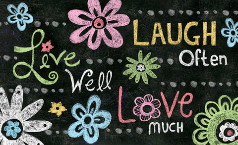 Live Laugh Love Chalkboard Door Mat Image