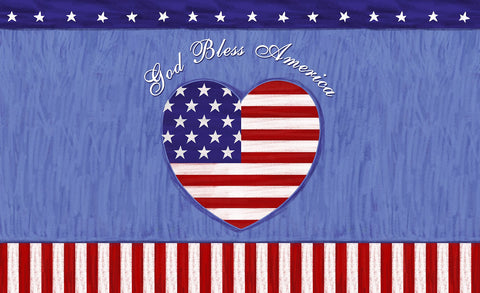 God Bless The U.S. Door Mat Image