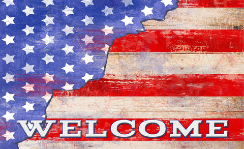 Freedom Stars and Stripes Door Mat Image