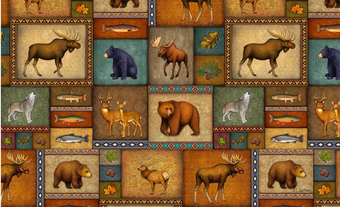 Quilted Wilderness Door Mat Image