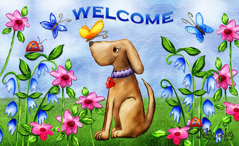 Welcome Dog Door Mat Image