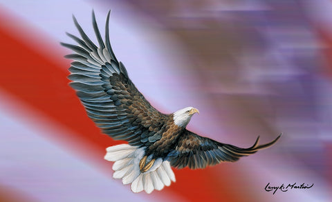Patriotic Eagle Door Mat Image