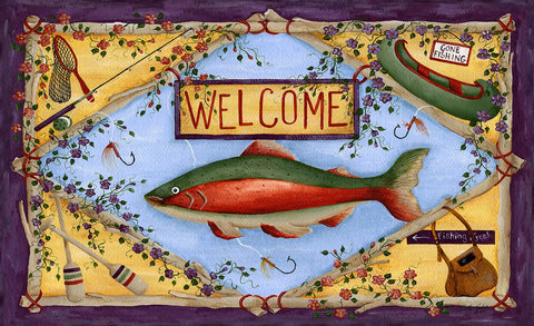 Rainbow Trout Door Mat Image