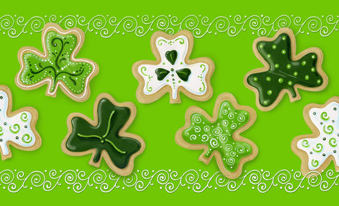 Shamrock Cookies Door Mat Image
